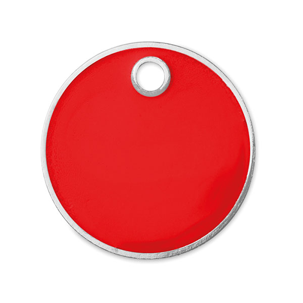 Брелок под монету (евро) MO9748-05 TOKENRING, красный