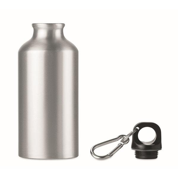 Фляга алюминиевая 400 мл MO9805-16 MID MOSS, матовое серебро