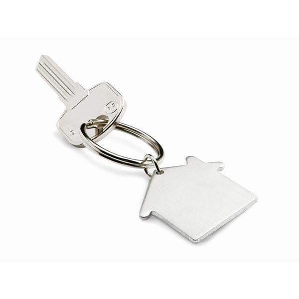 Брелок «домик» KC6589-16 HEIM, матовое серебро