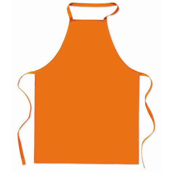 Кухонный фартук из хлопка MO7251-10 KITAB, оранжевый