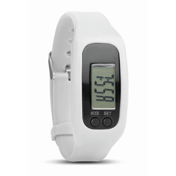 Часы-шагомер MO9136-06 BRATARA, белый
