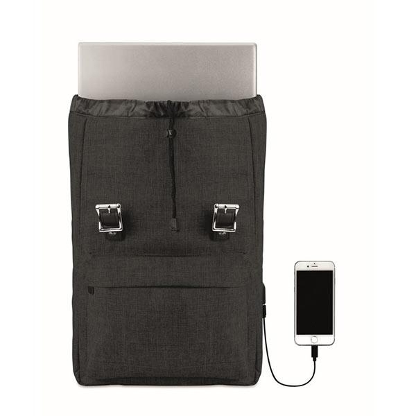 Рюкзак MO9439-03 RIGA, черный